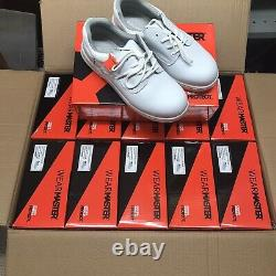 10 pairs of WHITE Men's Safety Shoes Toetectors Steel Toe Cap YOU PICK SIZES