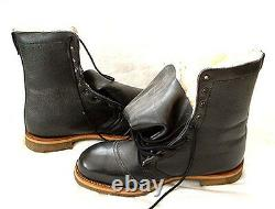1970's NEW ZEALAND STEEL TOE, FLEECE LINED LEATHER MEN's BOOTS- NEW OLD STOCK
