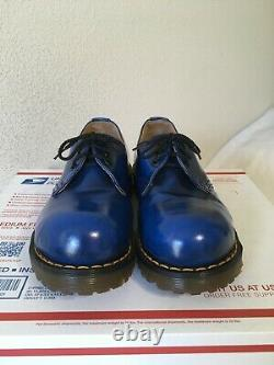 90's Vintage Blue Steel Toe 3-eye Dr. Martens US 6 mie ENGLAND shoes boots 1925