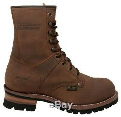 AdTec Men's 9 Work Logger Brown Crazy Horse Boots Leather Rugged Brown 1427