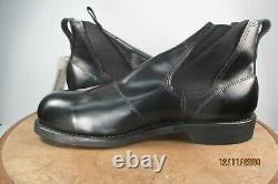 Addison Black Steel Toe Molders Ankle Boots US 11 R made in USA NWB