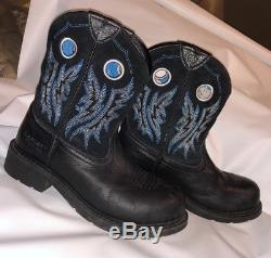 Ariat Fatbaby Cowgirl Steel Toe Women Work Boots Preowned Size 9 B