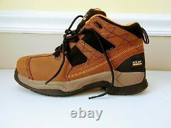 Ariat Mens Performance Work Boots Size 9.5 Shoes Steel Toe Brown Waterproof