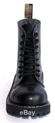 BOOTS STEEL TOE RANGERS 8 HOLE Bovver Skinhead Gothic Punk