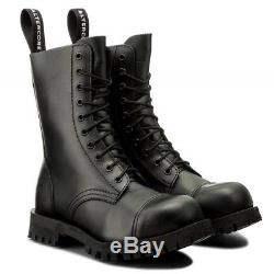 BOOTS STEEL TOE RANGERS ALTERCORE 10 HOLE Bovver Skinhead Gothic Punk
