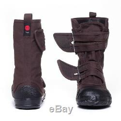 Brown Fugu Sa-Me Unisex Japanese Work Shoes & Boots. Perfect Burning Man Shoes