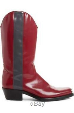 CALVIN KLEIN 205W39NYC SPAZZOLATO LEATHER COWBOY BOOTS SHOES $1400 Price Cut