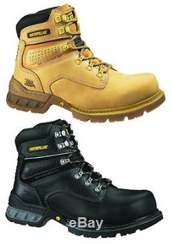 CATERPILLAR CAT FOUNDATION MENS STEEL TOE WORK/SAFETY BOOTS/SHOES DURABLE