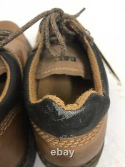CAT Brand Women's Safety Toe Work Shoe Brown Leather Lace Up Size 8 SH-107