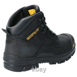 CAT Caterpillar Bearing Safety Boots Mens S3 Water Resistant Steel Toe Work Shoe