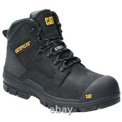 CAT Caterpillar Bearing Safety Boots S3 Water Resistant Steel Toe Mens Work Shoe