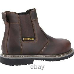 CAT Powerplant Dealer Safety Boots Mens Leather Steel Toe Caterpillar Work Shoes