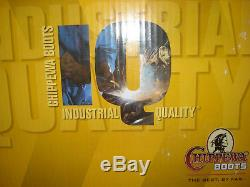 CHIPPEWA IQ INDUSTRIAL QUALITY Logger Work Boots men's 8 Steel Toe Insulated