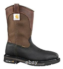 Carhartt CMP1258 Men's 11 Square Steel Toe Wellington Boots Leather Work Shoes
