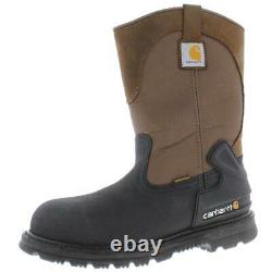 Carhartt Mens Brown Leather Steel Toe Work Boots Shoes 10.5 Wide (E) BHFO 3426