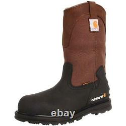 Carhartt Mens Brown Leather Steel Toe Work Boots Shoes 9.5 Wide (E) BHFO 5656