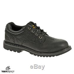 Caterpillar CAT Electric SB SRA Mens Black Leather Steel Toe Cap Safety Shoes