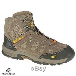 Caterpillar CAT Structure MID SB SRA Mens Brown Steel Toe Cap Safety Boots PPE