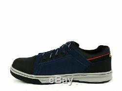 Caterpillar CONCAVE LO ST Steel Toe Mens Work Athletic Navy Leather Suede Shoes