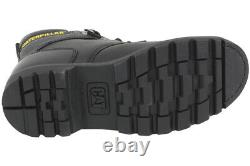 Caterpillar Second Shift ST Steel Toe Slip Resistant Black Boots Shoes