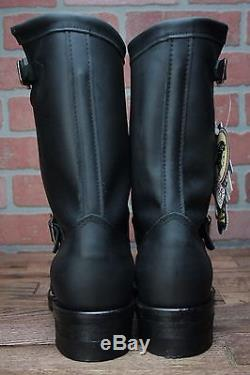 Chippewa 11 Black Steel Toe Motorcycle Boots 27863 Men's Boot Engineer Style