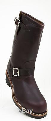 Chippewa 1901M04 Cordovan Leather Steel Toe Engineer Motorcycle Boot MADE IN USA