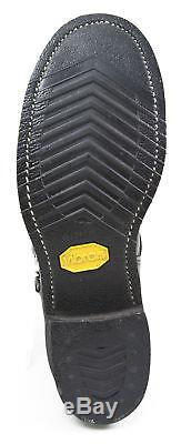 Chippewa 1901M10 Black Leather Steel Toe Low 7 Engineer Motorcycle Boot