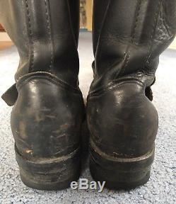 Chippewa Black Leather Motorcycle Engineer Steel Toe Boots Mens 10.5 E 27863