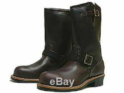 Chippewa Men's 11 Motorcycle Work Cordovan Boots Steel Toe USA Size 7.5 E