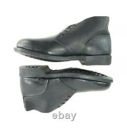 Chukka Steel Toe Boots Craddock Terry Men 8.5 W Shoes Black Leather ANSI Z41 New