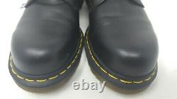 DOC MARTENS Steel Toe Safety Shoes / Low Boots Men's USA-8 Black Womens USA 9