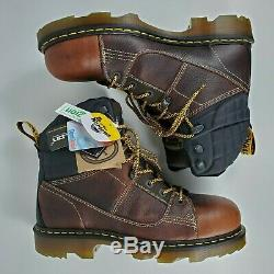 DR MARTENS Size 13 Mens Camber Steel Toe Leather Work Boots Lace Up SoftWair Doc