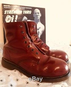 DR MARTENS Steel toe 80s boots 1460 Made in England UK 10 Airwair Skinhead Punk