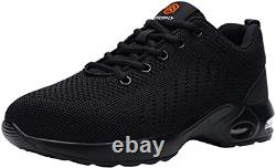 DYKHMILY Lightweight Safety Shoes Women Steel Toe Cap Trainers Womens Work Shoes