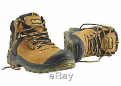 DeWalt Safety Work Boots Mens Size 7-12 Waterproof Steel Toe Cap Brown Shoes NEW