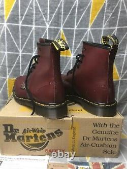 Dr Doc Martens Made In England Steel Toe Cap Cap Safety Boots Shoes Blood Uk 7