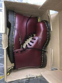 Dr Doc Martens Made In England Steel Toe Cap Capped Safety Boots Shoes Ox Blood