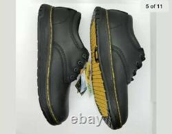 Dr. Doc Martens Men's Size 9 Black Culvert SD Steel Toe Safety Shoes AW004 New