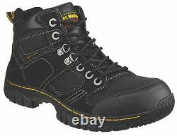 Dr Doc Martens Safety Work Boots Steel Toe Cap Syn Leather Black Shoes All Sizes