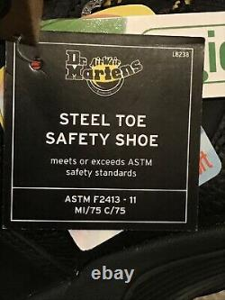 Dr Marten Grapple Boots. Industrial Steel Toe Cap Shoes. New W Tags Size Uk 8