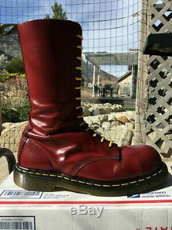 Dr Martens 14-eye Steel Toe boots US 10 shoes doc 1940 cap oxblood cherry red oi