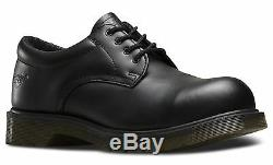 Dr Martens 2216 Pw Genuine Classic 3 Eye Mens Leather Steel Toe Boots Rock Shoes