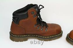 Dr Martens Brown Teak UK 10 Safety Boots Steel Toe Industrial Shoes BRAND NEW