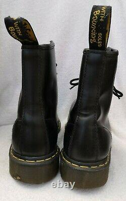 Dr. Martens Men's Black Steel Toe Safety Shoe Boots Size UK 9 Used Condition