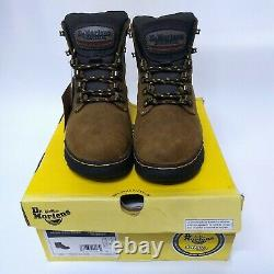 Dr Martens Ridge ST Brown+Dark Brown Safety Boots Steel Toe Industrial shoes wrk