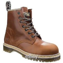 Dr. Martens Steel Toe Safety Shoes ICON 7B10 7 Eye Work Boots Black&Brown