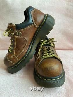 Dr Martens Vintage Shoes Uk Chunky Toe Steel Size 4 Made In England From 90s