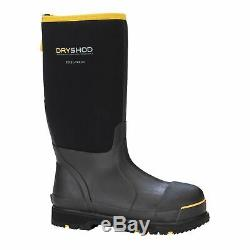 Dryshod Mens Cold Weather Steel Toe Insulated Boots Size 10 STT-UH-BK