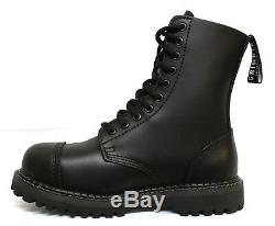 Grinders StagCS Men's Safety Steel Toe Cap Black Military Styles Lace up Boots