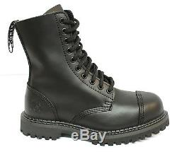 Grinders Stag CS Black Mens Unisex Safety Steel Toe Cap Military Punk Boots